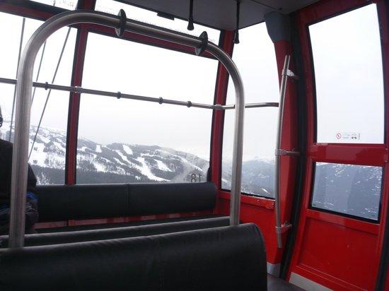 Peak 2 Peak Gondola: Internal shot of gondola