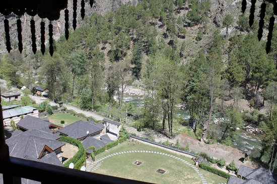 The Himalayan Village: View from Tree House Balcony