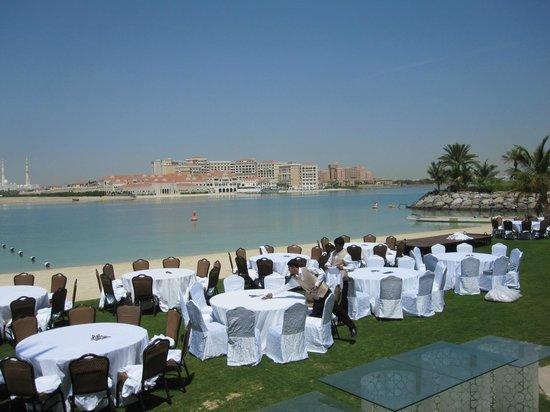 Shangri-La Hotel, Qaryat Al Beri, Abu Dhabi : View from gardens