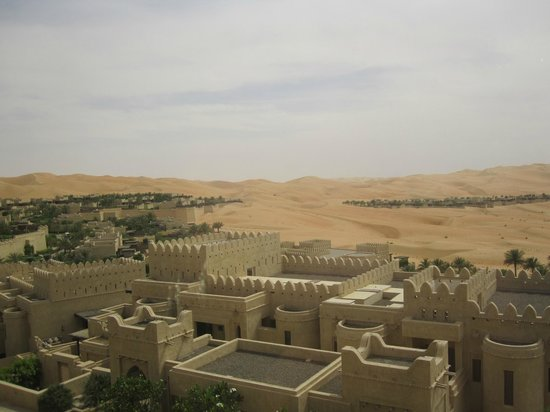 Qasr Al Sarab Desert Resort by Anantara: View from our balcony