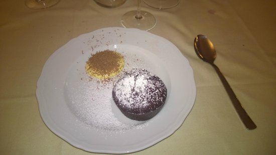 Etruscan Chocohotel : Tortino al cioccolato