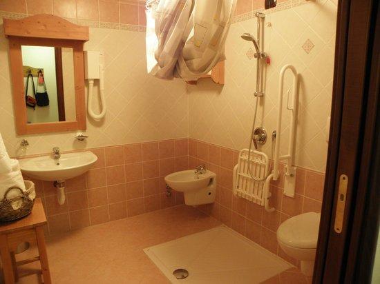 Hotel Parc Mont Avic : Bagno (doccia per disabili)