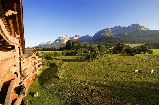 Гоинг, Австрия: Ausblick vom Hotelzimmer