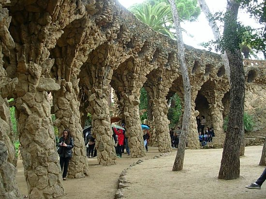 Parc Güell : One of the structures at Parc Guell