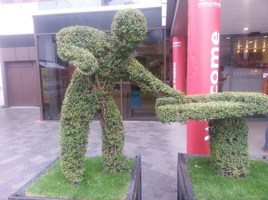 Crucible Theatre: Great hedge-cutting!