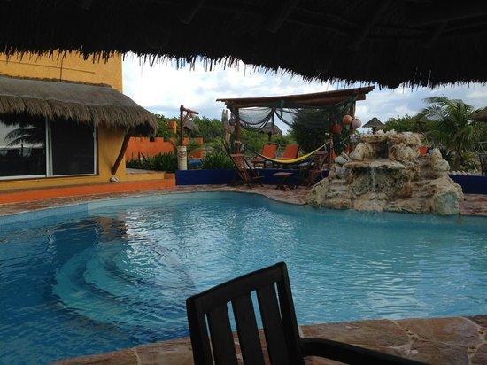 Villa La Bella: pool water fall