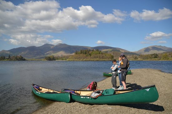 Keswick Canoe and Bushcraft: Tea break at St. Herbert's island