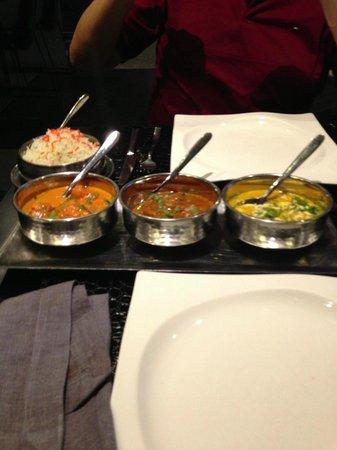 Tandoori Station: three curries