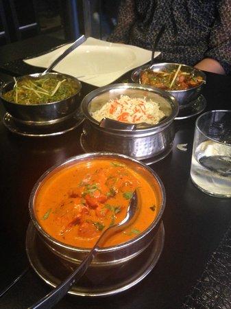 Tandoori Station: tikka masala chicken, lamb