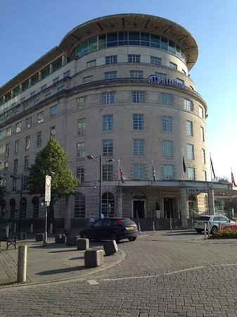 Hilton Cardiff : The front of the hotel