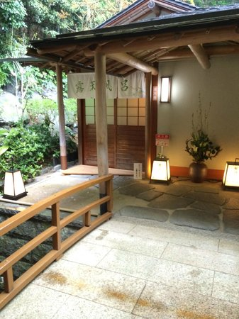 Sagasawakan: Hotel bath entry