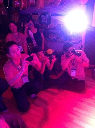 The Touch of Masters' Hands: The Vietnamese Authentic Cultural Show: Audiences taking photos