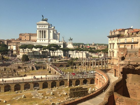 Mercati di Traiano - Museo dei Fori Imperiali: View from the top of the Museo over the city 2