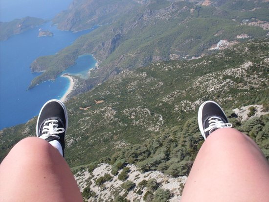 Blue Lagoon : Views from paragliding - my third time!