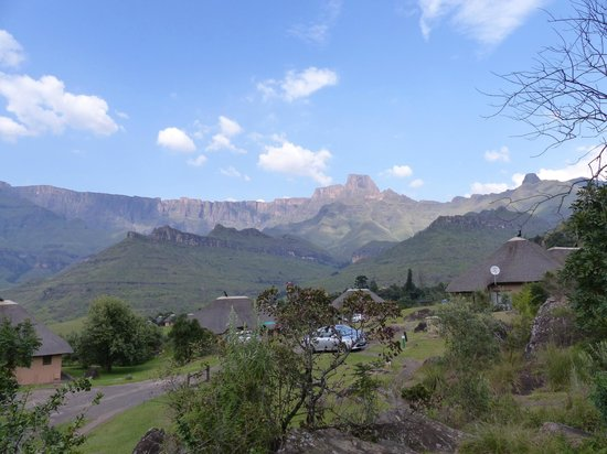 Thendele Hutted camp: view from the patio