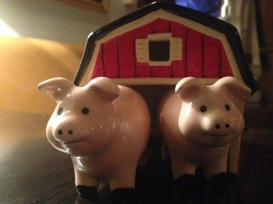 le cochon bleu : petite déco de table bien sympathique !