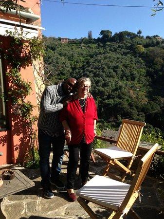 B&B Tre Mari Portofino: Augusta (ägaren) och Bernard, vilka värdar!