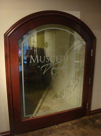 Muscedere Vineyards: Door entering the cellar
