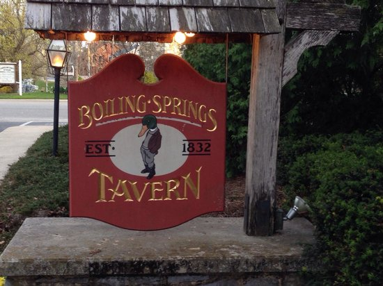 Boiling Springs Tavern by Children's Lake.