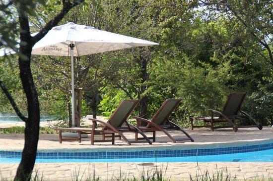 Silonque Bush Estate & Spa : Lekker luieren bij het zwembad