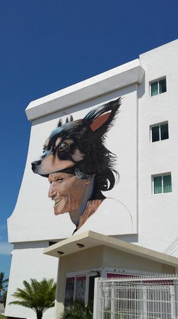 Gamma Campeche Malecón: Торец отеля