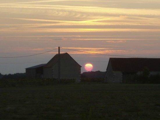 Sunset at Les Petites Cigognes