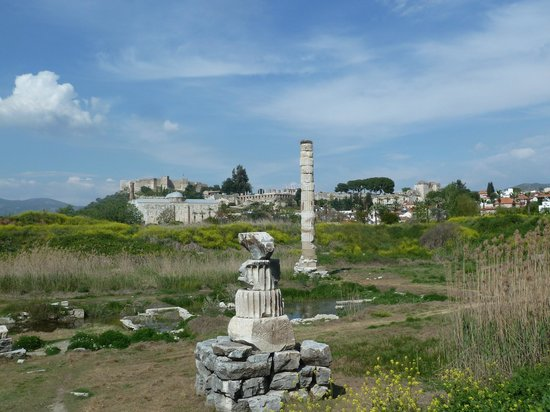 The Temple of Artemis (Artemision): Front view