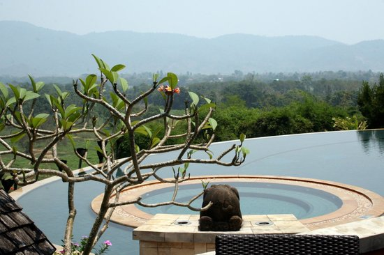 Anantara Golden Triangle Elephant Camp & Resort: View from restaurant verandah