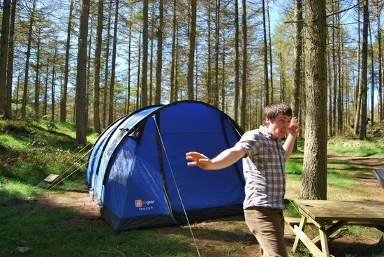 Marthrown of Mabie: Forest camping.