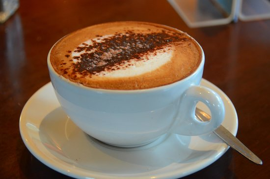 Old Mountaineers' Cafe, Bar and Restaurant : Cappuccino at The Old Mountaineers Cafe