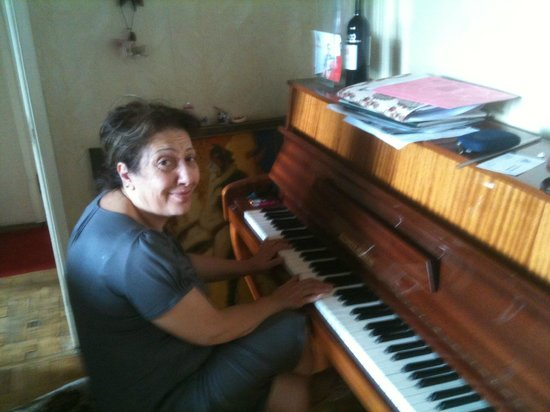 Anahit Stepanyan's B&B: Anahit playing the piano