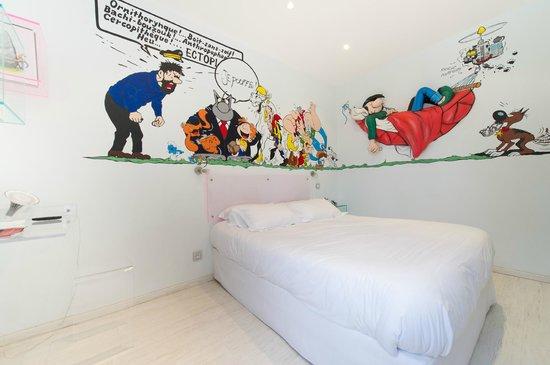 Ideal Sejour Hôtel : Chambre 26: La bande Déssiné