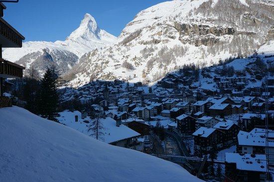 Chalet Hotel Schönegg: vue Cervin et Statino