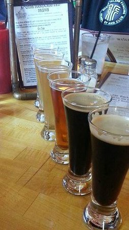 Outer Banks Brewing Station : A sampler of their excellent beers.