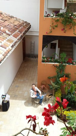 Axkan Arte Hotel : Вид со второго этажа