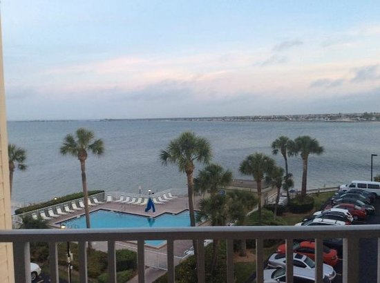 Sailport Waterfront Suites : View from the balcony on our 4th Floor Suite