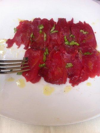 Antiche Mura: Carpaccio di tonno-antipasto