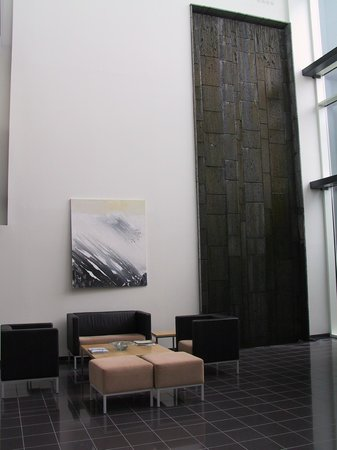 Hotel Selfoss: The Waterfall Wall in the Lobby