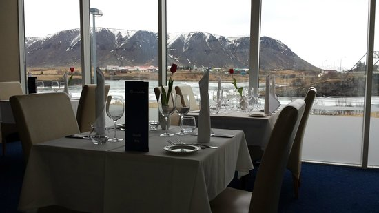 Hotel Selfoss: A view from Riverside Restaurant