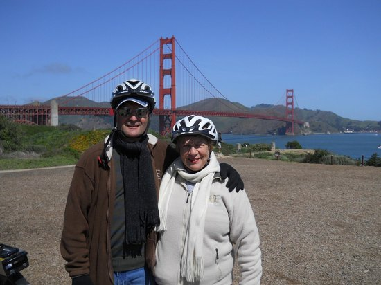 Electric Bike Tour Over the Golden Gate: Scenic stop before heading up to the Bridge