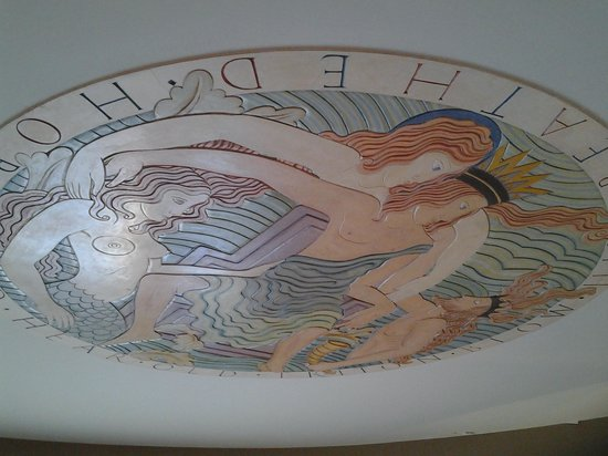 The Midland Hotel - Morecambe: mural at tge apex of the ceiling is exceptional