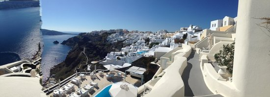 Canaves Oia Hotel: view from our room