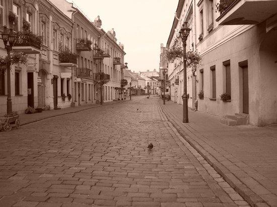 Old Town Kaunas: old town sepia