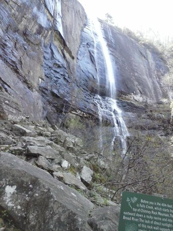 Chimney Rock State Park: Hikory Nut Waterfall at Chimney Rock,NC