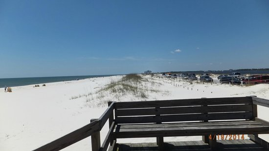 Gulf Islands National Seashore - Florida District: beach area on gulf side