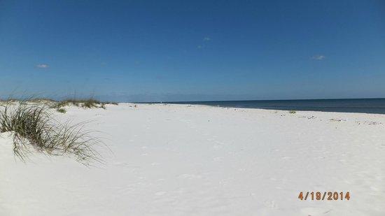 Gulf Islands National Seashore - Florida District: beach on gulf side