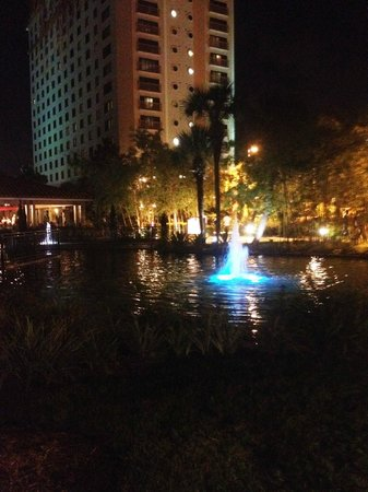 Doubletree by Hilton Orlando at SeaWorld : Grounds at night