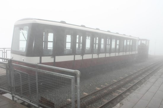 Snowdon Mountain Railway : Train in the mist