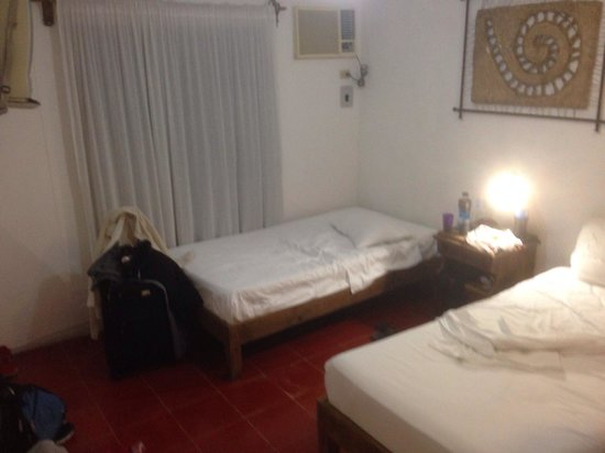 Haina Hostal: Two bed room was great spot to lay our heads during the night. Room was fine for $45 Canadian. S