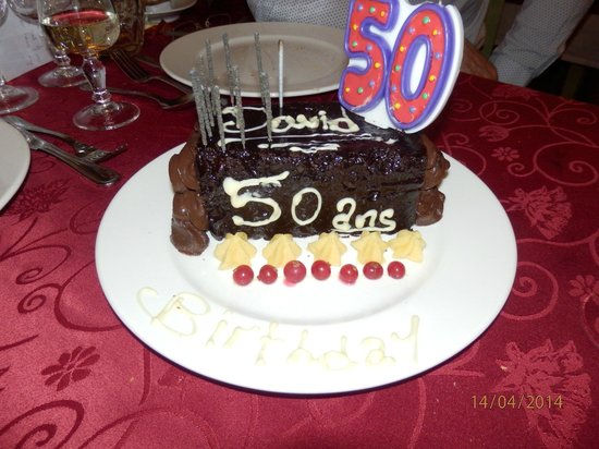 Val Chaviere Hotel Husbands 50th Birthday Cake